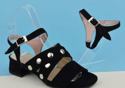 transformer mule en sandales avec bride daim noir